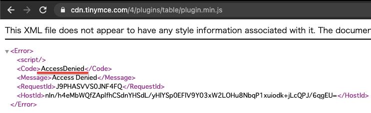 tinymce failed to load plugin error